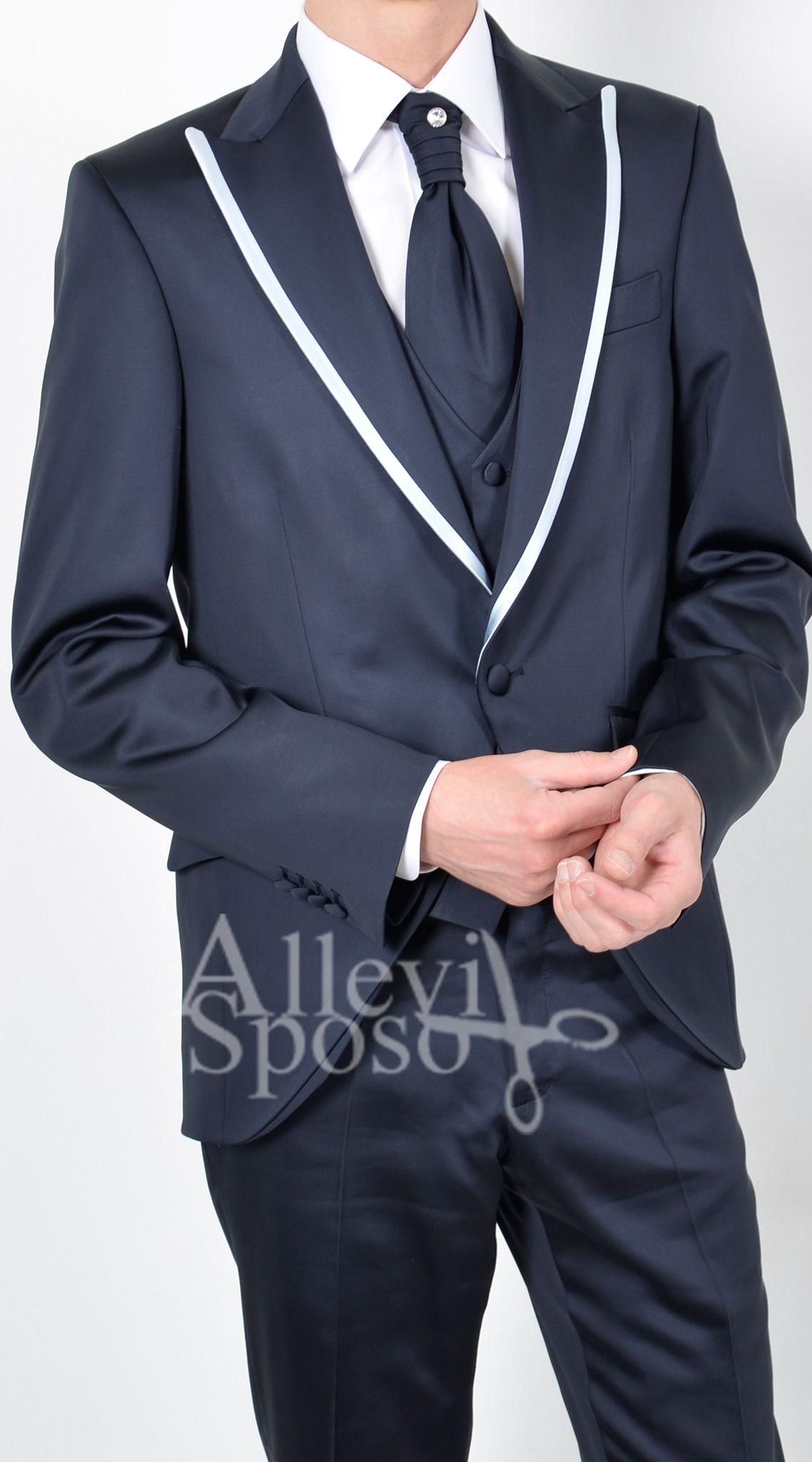 ABITO AZZURRO BLU CINA GILET DAMASCATO PETTO LANCIA DISPONIBILE PRESSO  ALLEVI SPOSO TEL  0363 914084  57529a21250