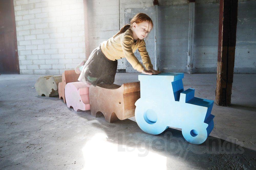 Units Bondegård: Traktor - Stor - Blå - Fra 3 år.