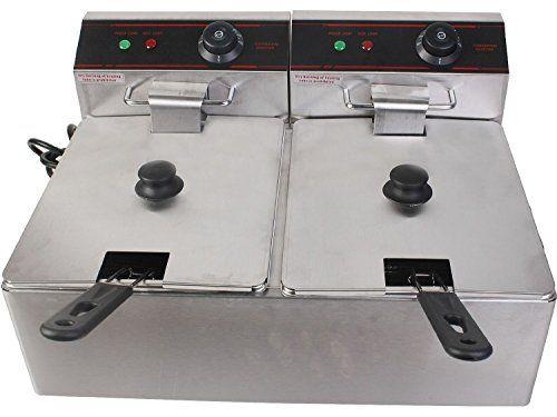 Giantex 5000w Electric Countertop Deep Fryer Dual Tank Commercial