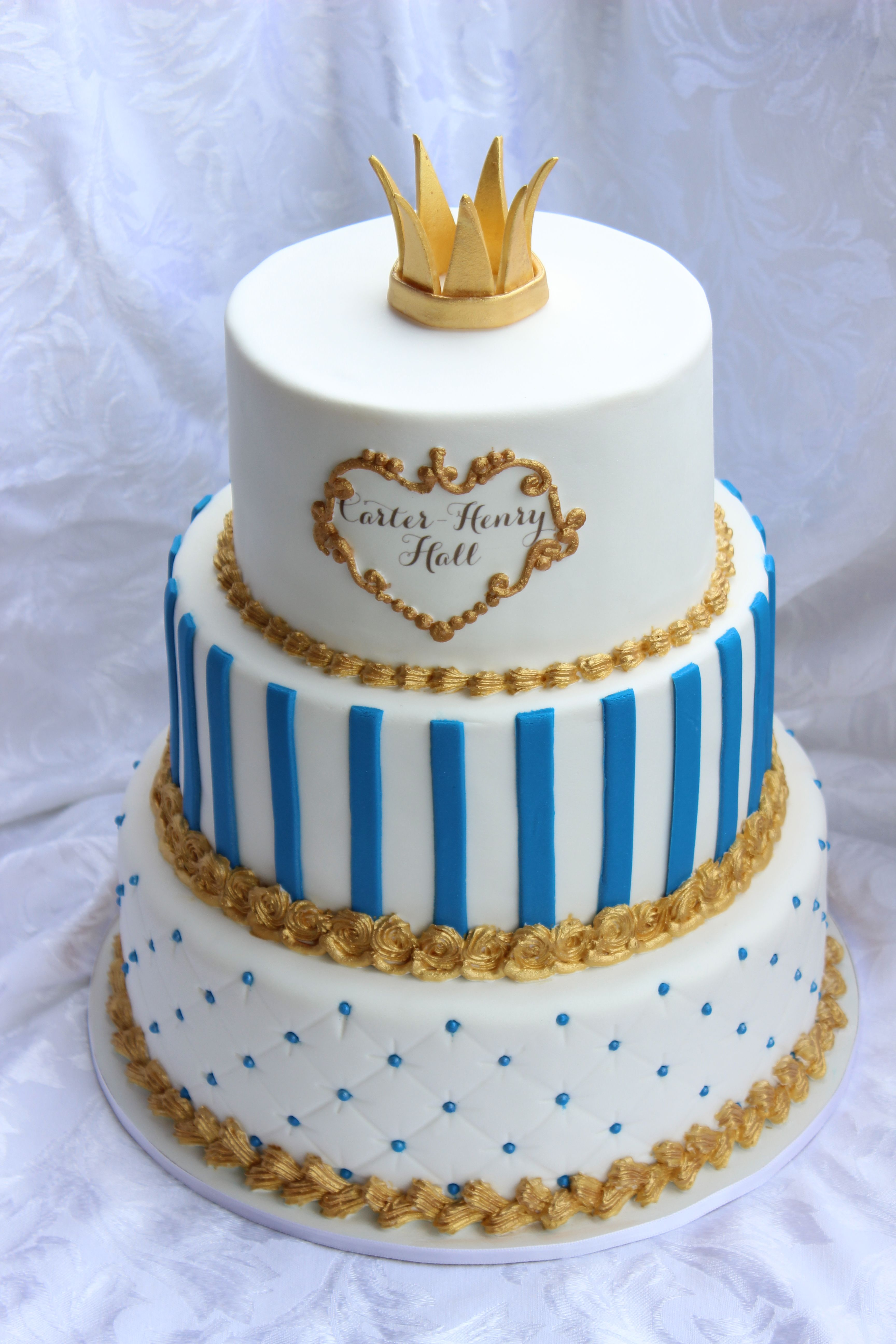 Blue And Gold Baby Shower Decorations Little Prince Inspired Centerpiece Perfect For Any Event Baby