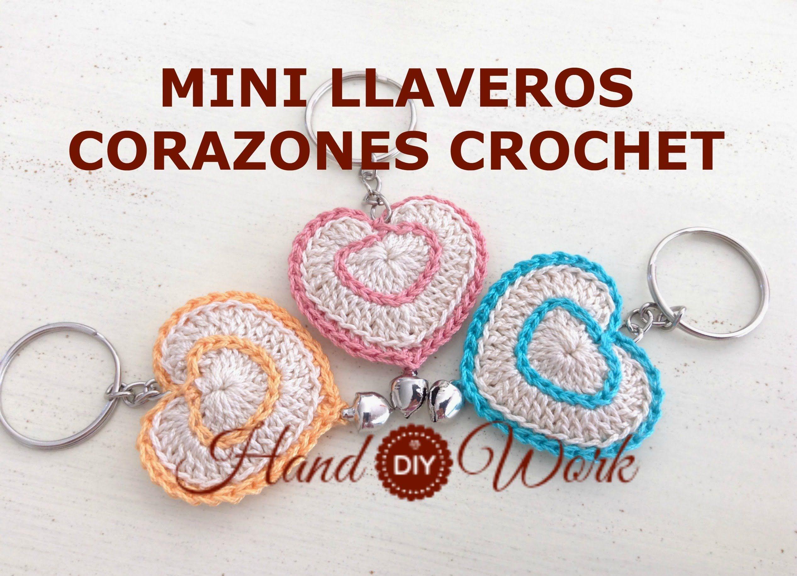 Llaveros Para Regalar En Valentine S Day Corazones Crochet