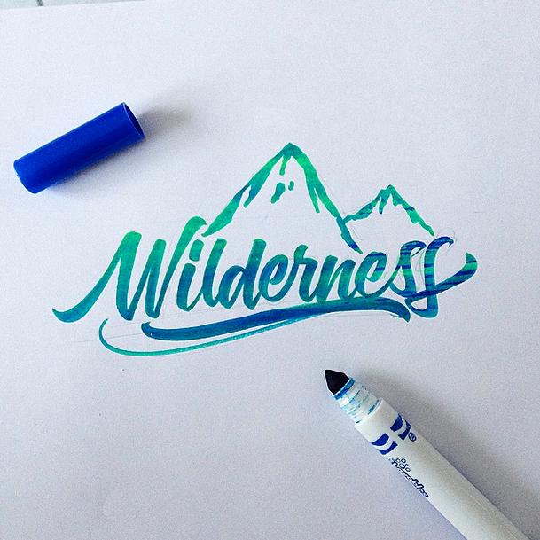 wilderness brushpen calligraphy david milan
