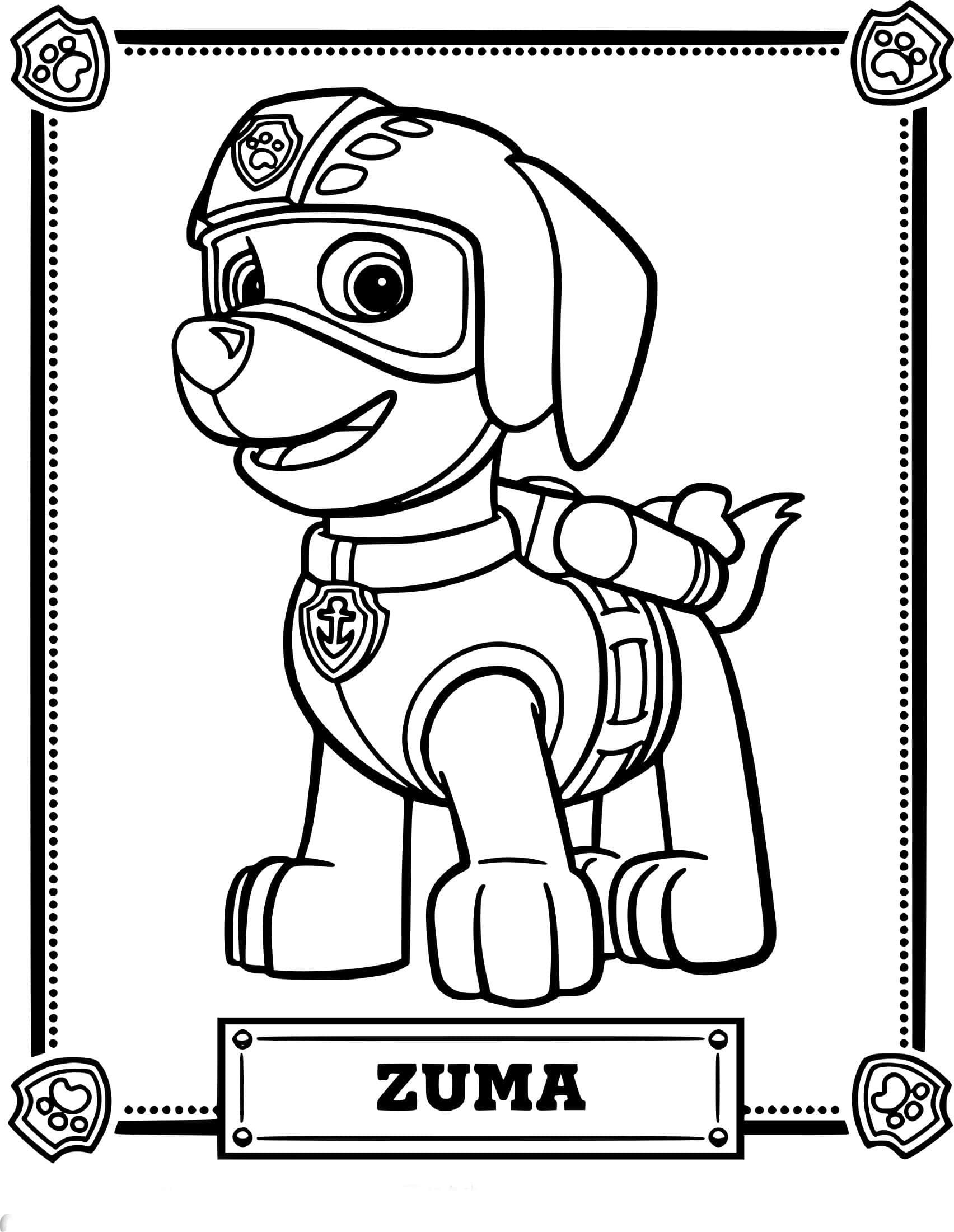 Zuma Paw Patrol Coloring Page Youngandtae Com Paw Patrol Coloring Paw Patrol Coloring Pages Paw Patrol Cartoon