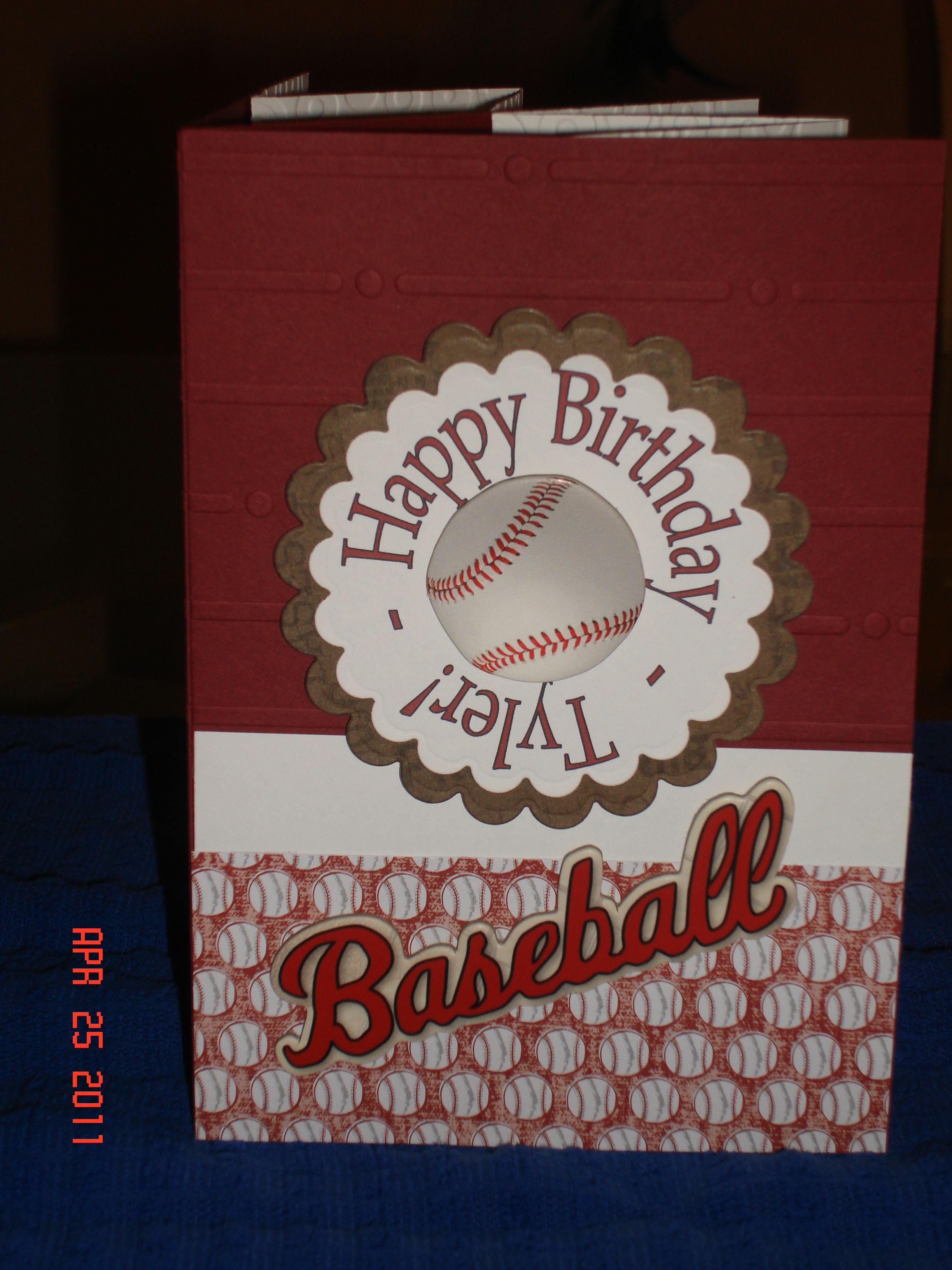 Baseball Birthday Card Kids birthday cards, Birthday