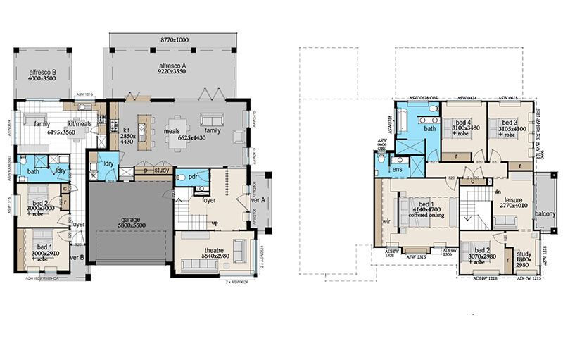 Astaire   ANSA HOMES - attached granny flat/dual living   House ...
