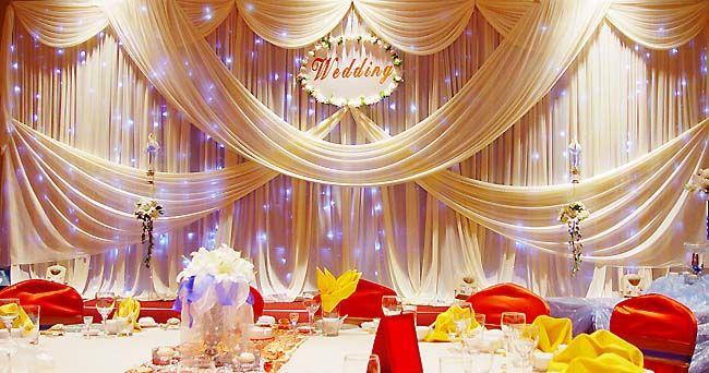 Wedding Decoration With Cloth 10 Jpg 650 342