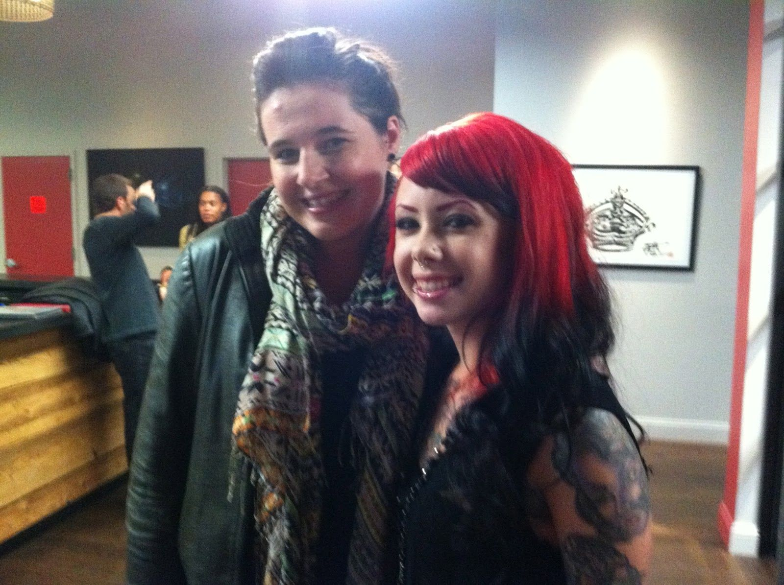 Me & my artist http://www.stellabellahome.com/2012/02/lefty-ny-ink-part-ii.html