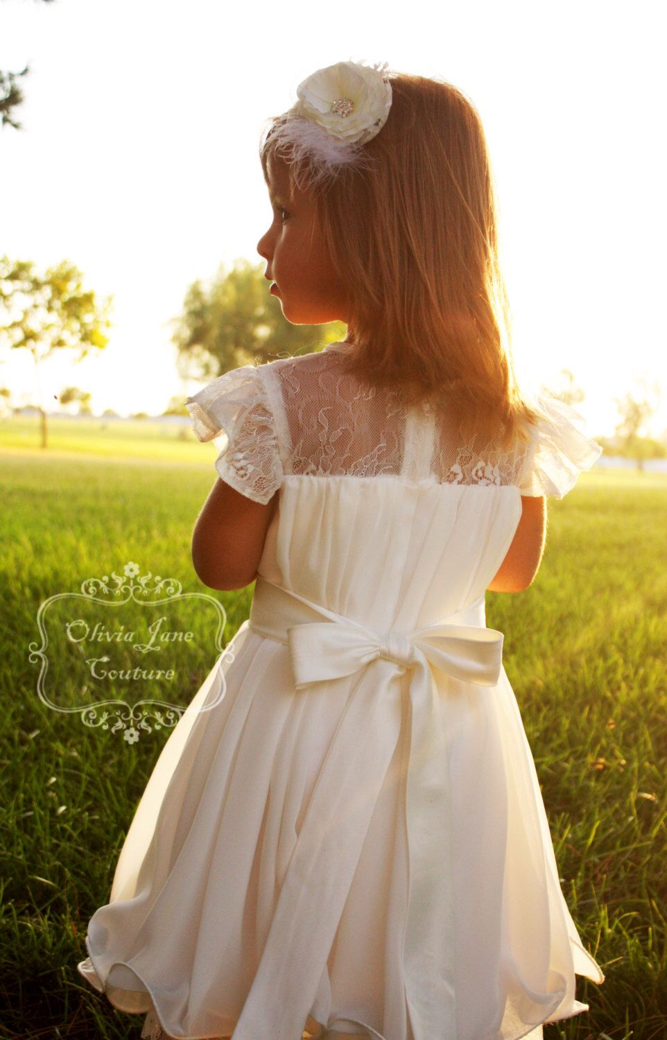 The Grace Flower Girl Dress Flower Girl Dressoff White Flower Girl
