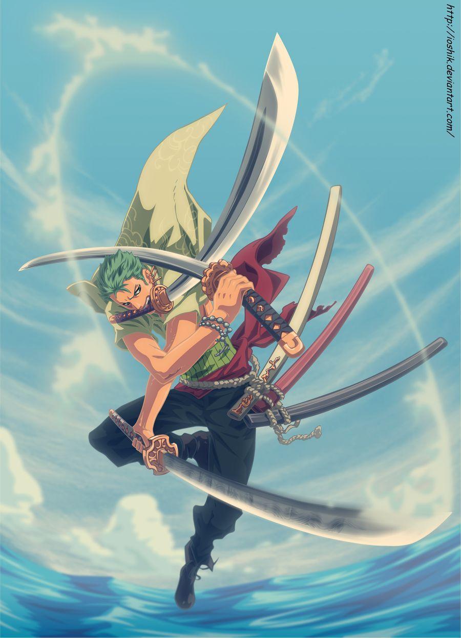 Estilo Tres Espadas In 2020 Top Anime Series Zoro One Piece One Piece Luffy