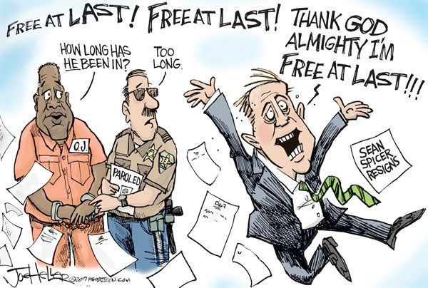 Sean Spicer | Political Cartoons | Political cartoons, Trump