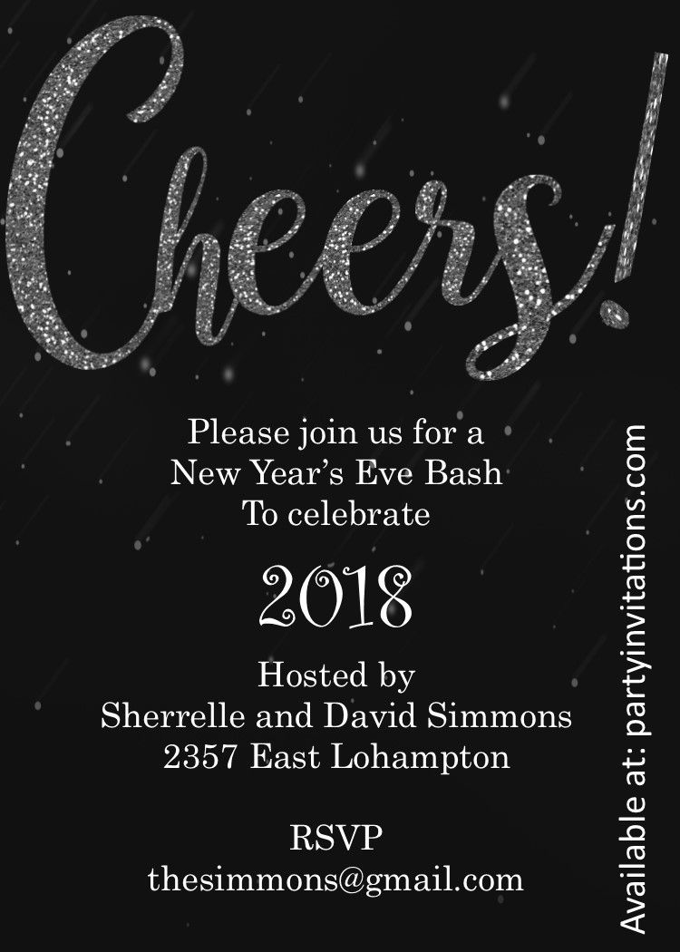 Cheers New Years Eve Party Invitations Cocktail Party Invitation New Years Eve Invitations Retirement Party Invitations