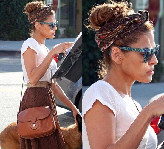 Eva Mendes #hairscarfstyles