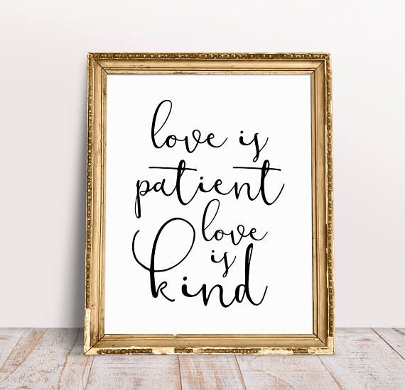 Love Is Patient Kind Wedding Signage Signs Bible Verse