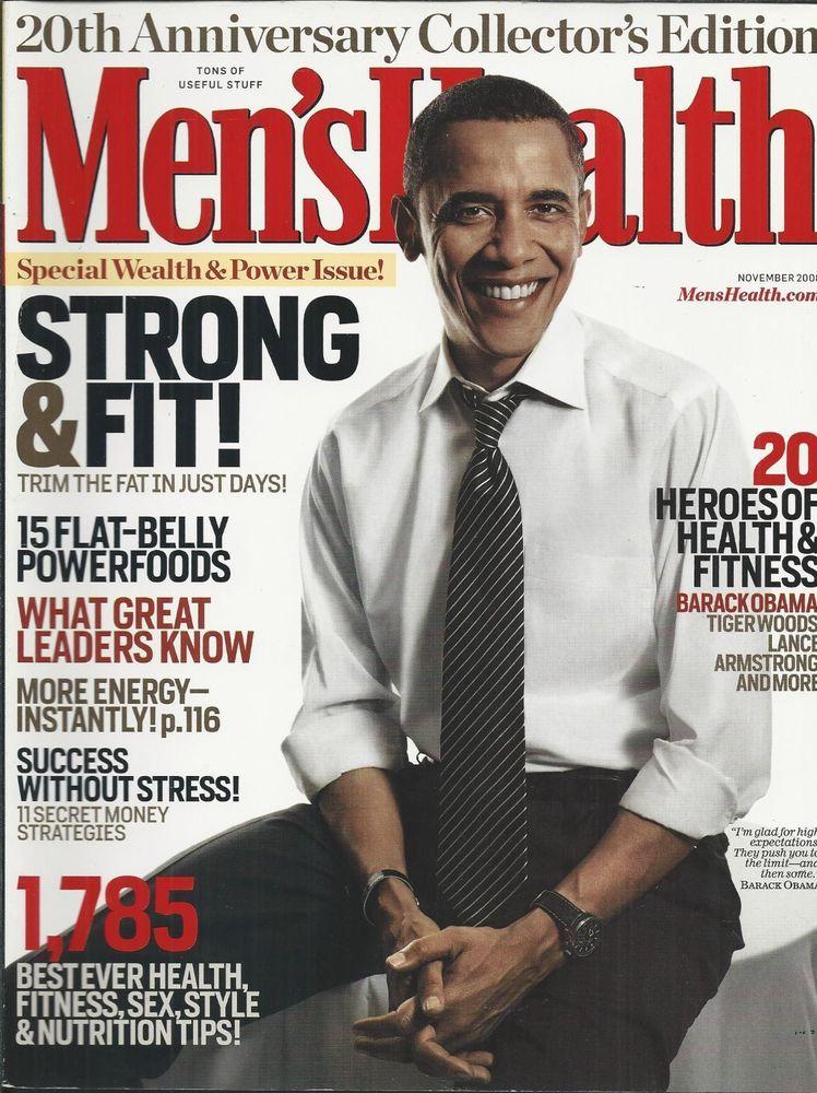 Mens Health Magazine President Barack Obama Instant Energy