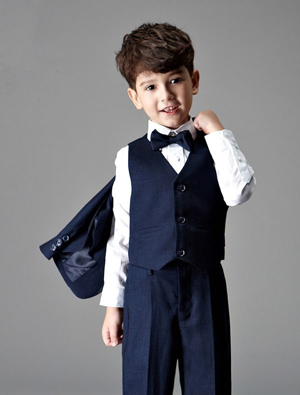 Children\'s Navy Blue Suits, Boys Wedding Suits 4 Sets [241602008 ...