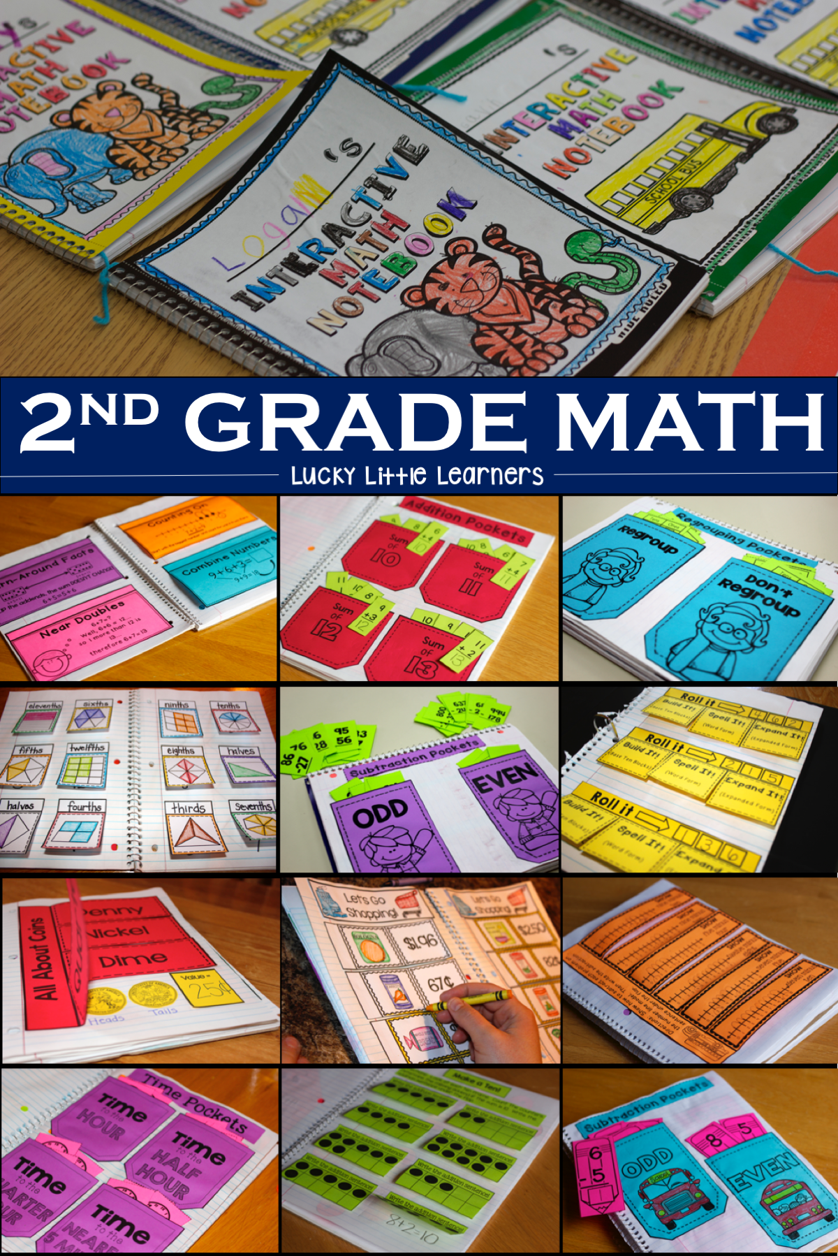 Math Interactive Notebook 2nd Grade