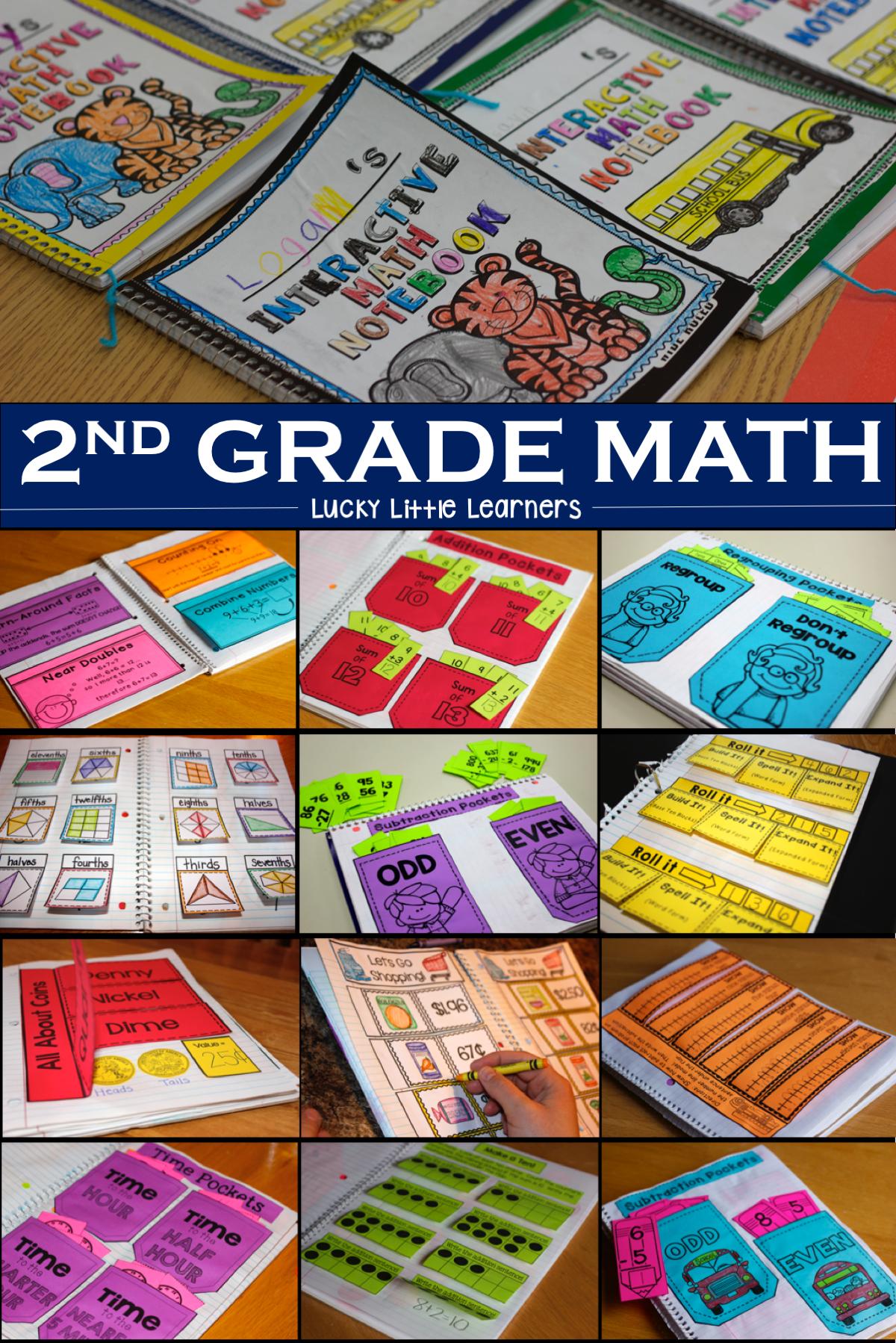 Math Interactive Notebook: 2nd Grade   Math activities, Math and Teacher