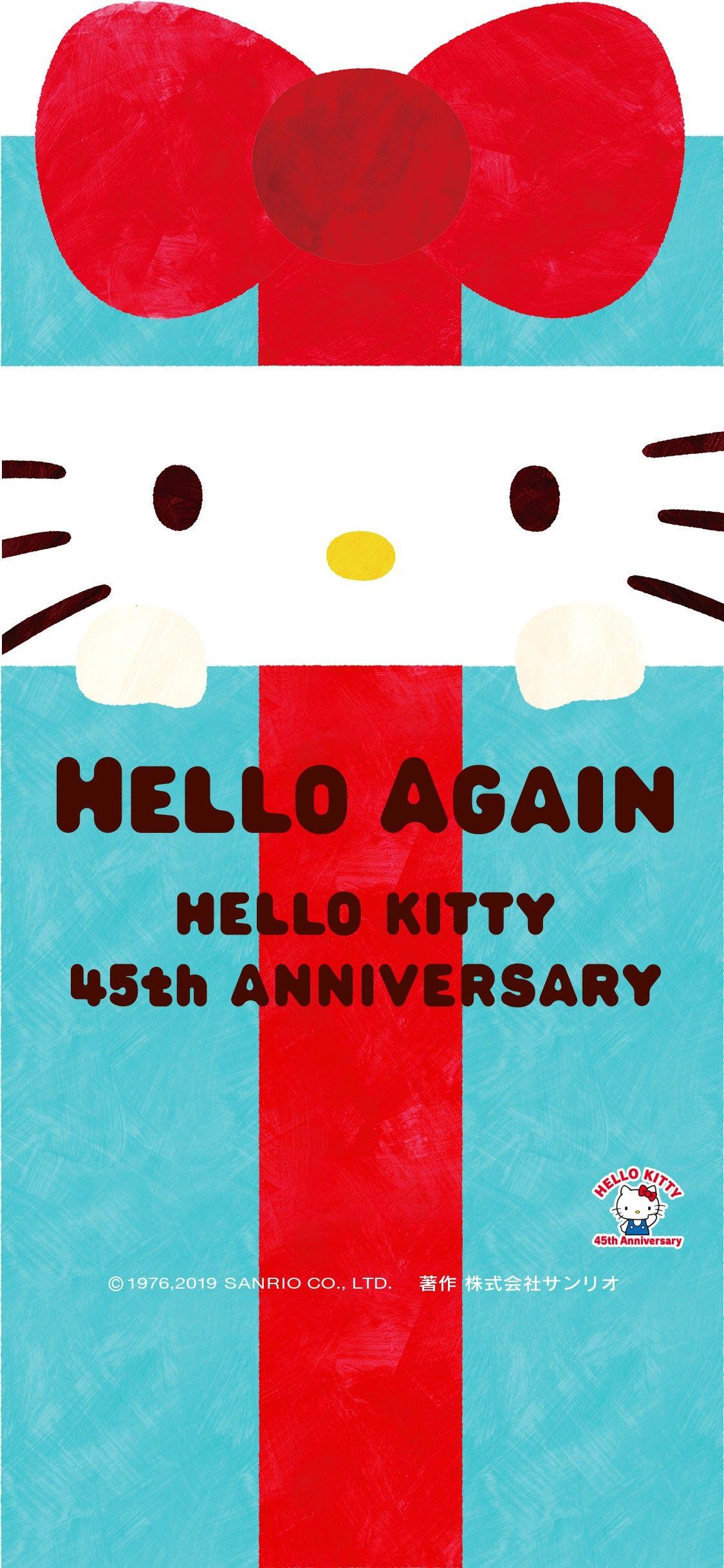 Hello Kitty 45th Anniversary Wallpaper Hello Kitty Hello Kitty