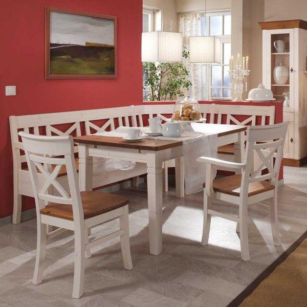 Genial Eckbank Weiss Landhaus Eckbank Genial Landhaus Country Style Dining Room Stylish Dining Room Kitchen Banquette