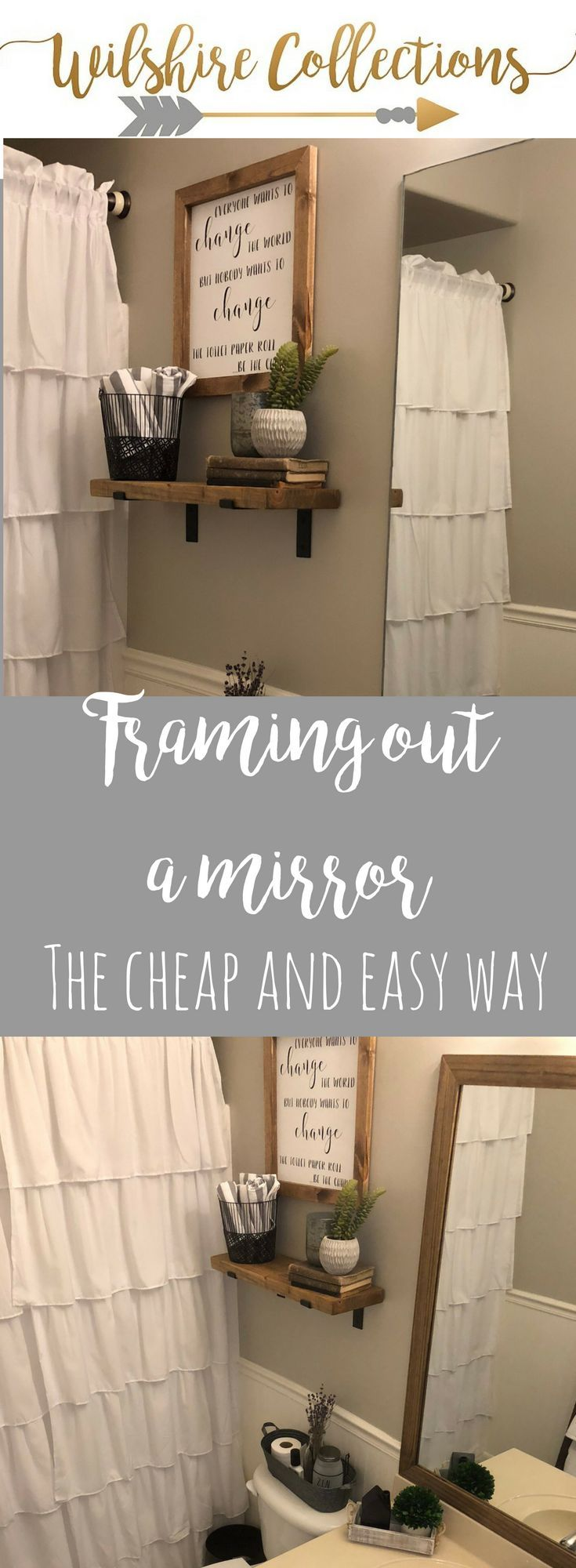 Ideas : framing out a mirror the cheap and easy DIY way