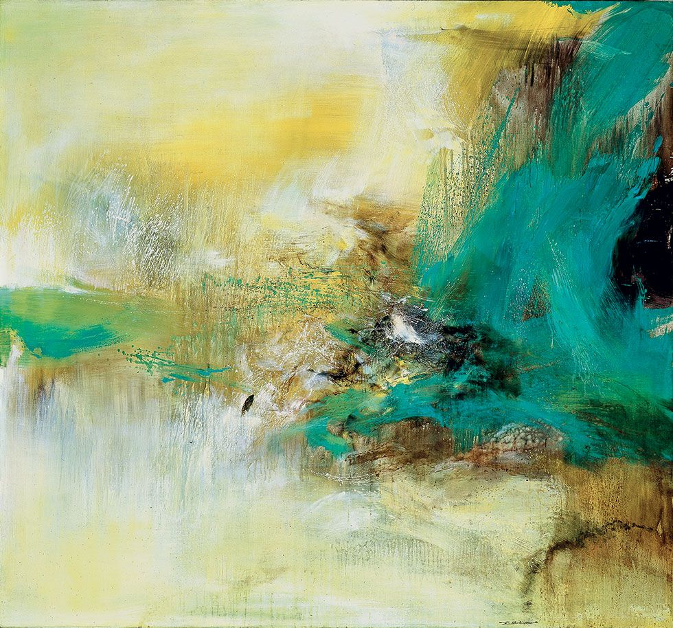 Zao Wou Ki 13 01 76 1976 Oil On Canvas 59 63 3 4 In 150