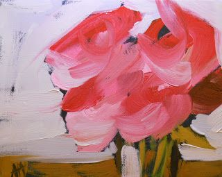pink roses no. 4 | angela moulton's painting a day