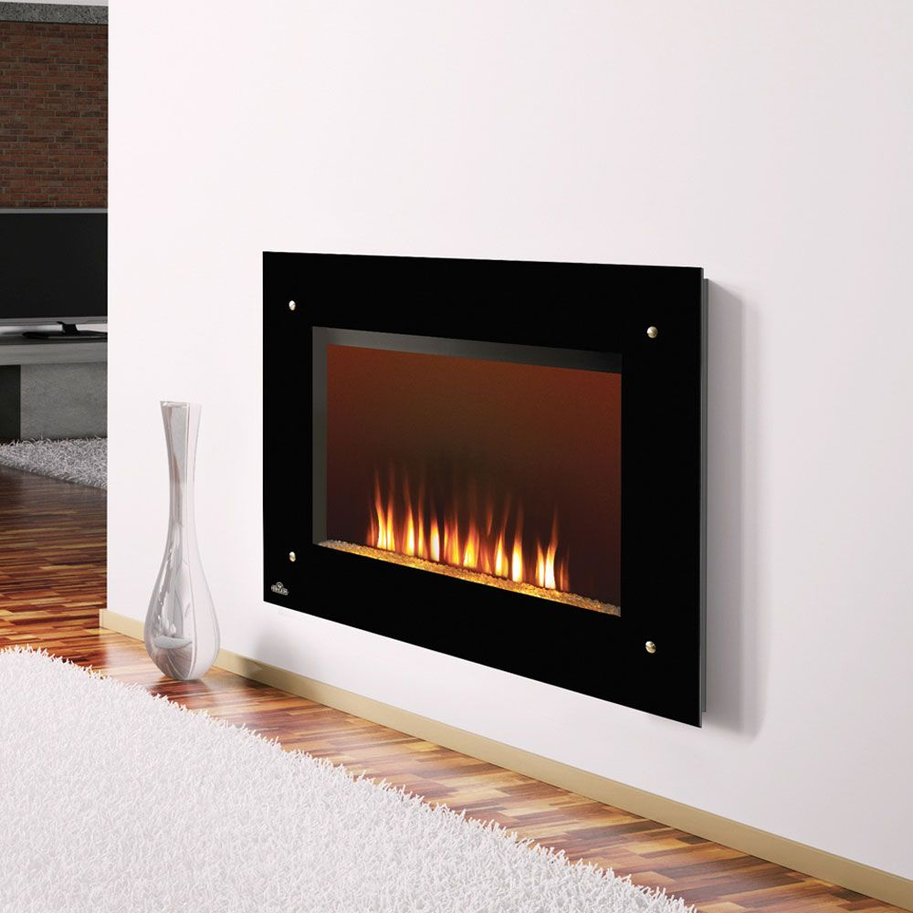 wall mounted electric fireplaces | Napoleon 39-Inch Black Wall Mount Electric Fireplace - EF39S [No-Heat]