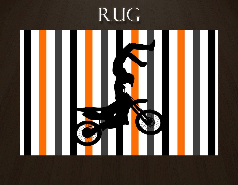 Dirt Bike Rug, Rug For Boys Room, Rug For Boys, Sports