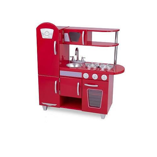 Kidkraft Play Kitchen Set kidkraft vintage kitchen set - red | toys, vintage and toys r us