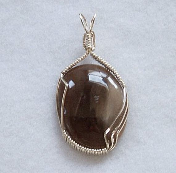Wire Wrapped Pendant Handmade Petrified Wood & by JewelryArtistry, $45.00