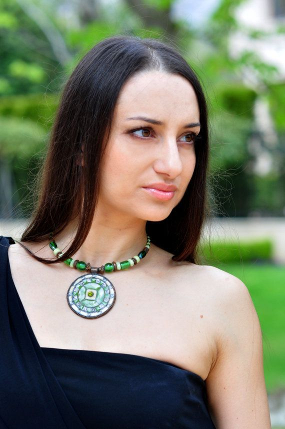Этнические ожерелья чокеровщика Tribal ожерелье от MonJewelryBoutique