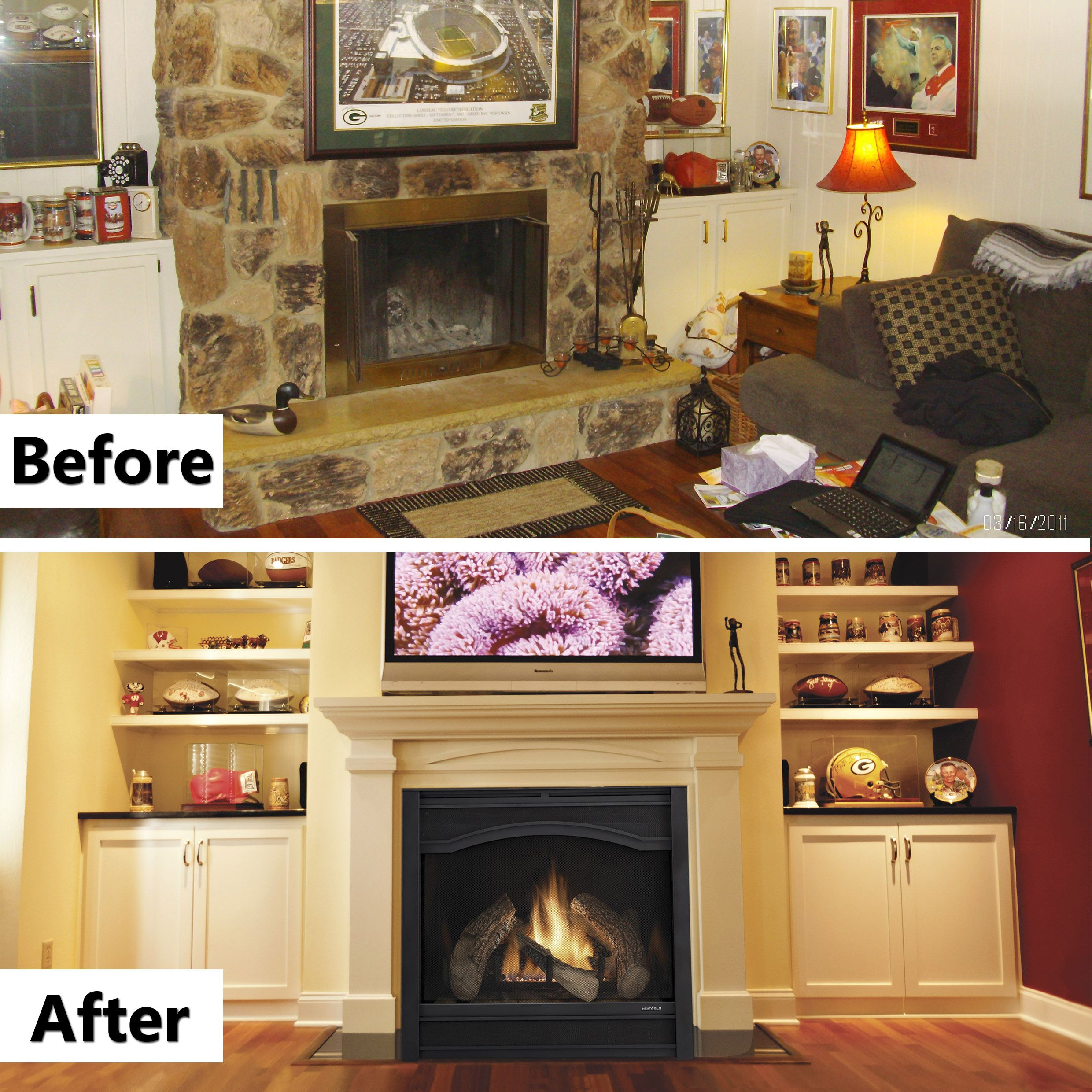Fireplace Doesnt Heat: Heat & Glo 6000C Gas Fireplace With Arcadia Front In Black