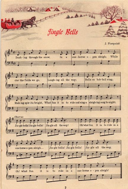 Vintage Jingle Bells | Christmas | Christmas sheet music