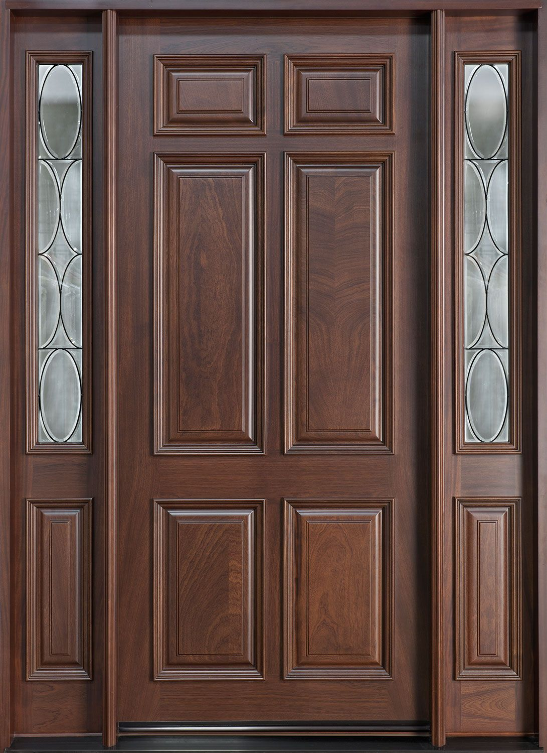 Entry Door inStock Single with 2 Sidelites Solid Wood with