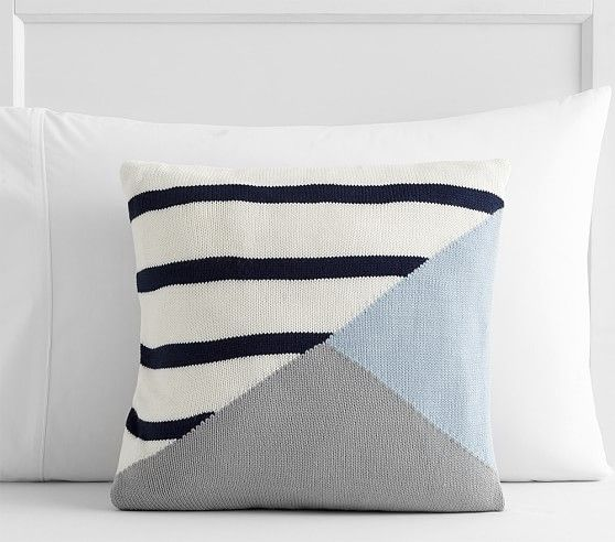 Pottery Barn Pillow Inserts Beauteous Knit Colorblock Stripe Decorative Pillow  Pottery Barn Kids Decorating Inspiration