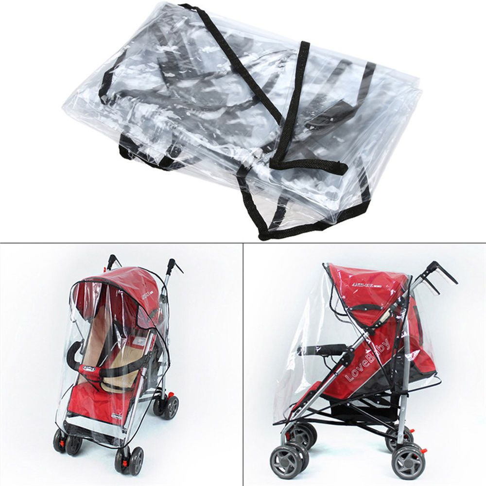 Details about Baby Stroller Cover Transparent Waterproof