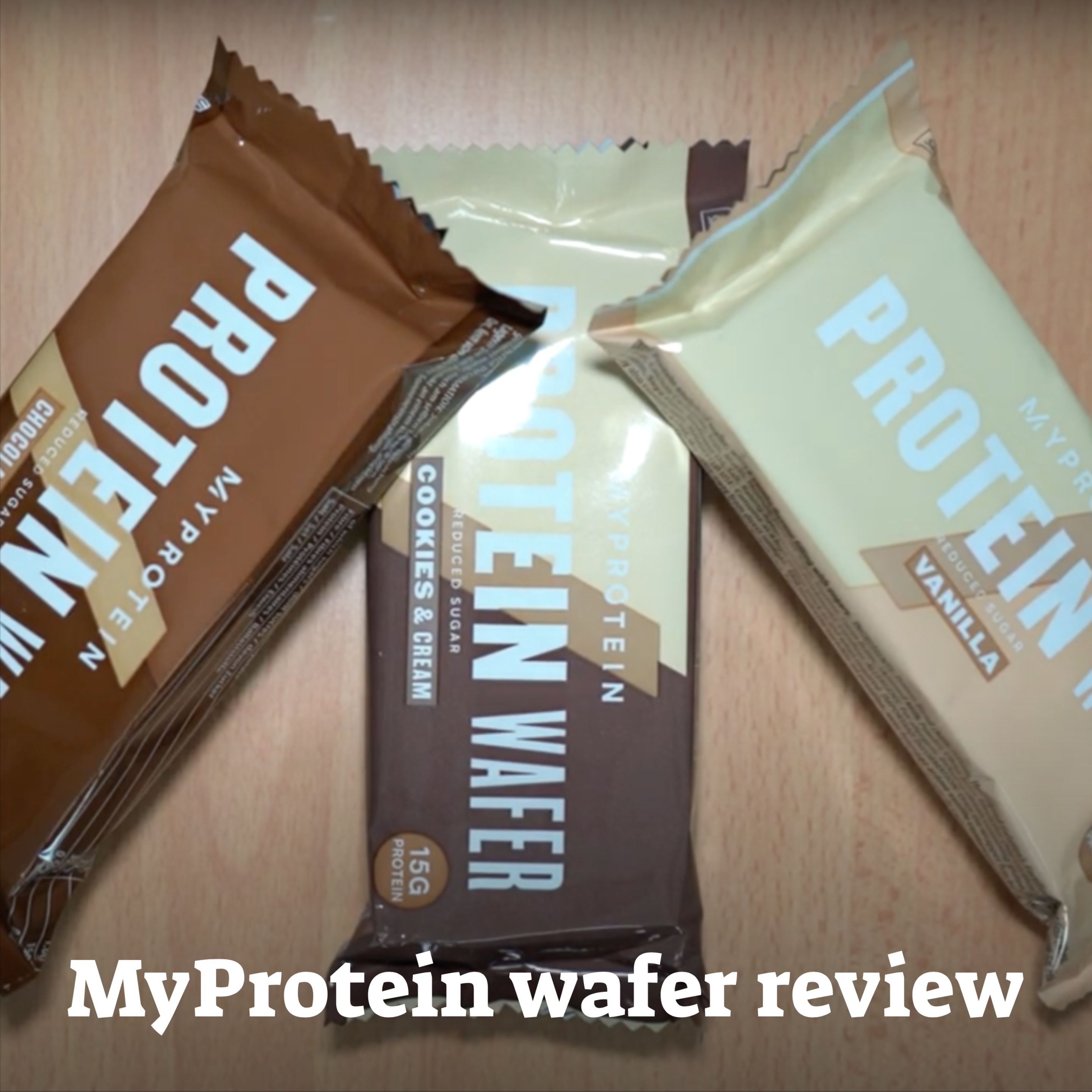 Myprotein Wafer Review Video Wafer Cookies And Cream Protein