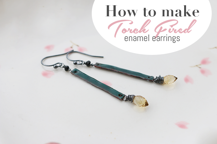 Today, I will show you how torch-fired enamel earrings are made. The ...