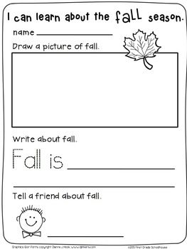 31+ Fall writing worksheets for kindergarten Popular