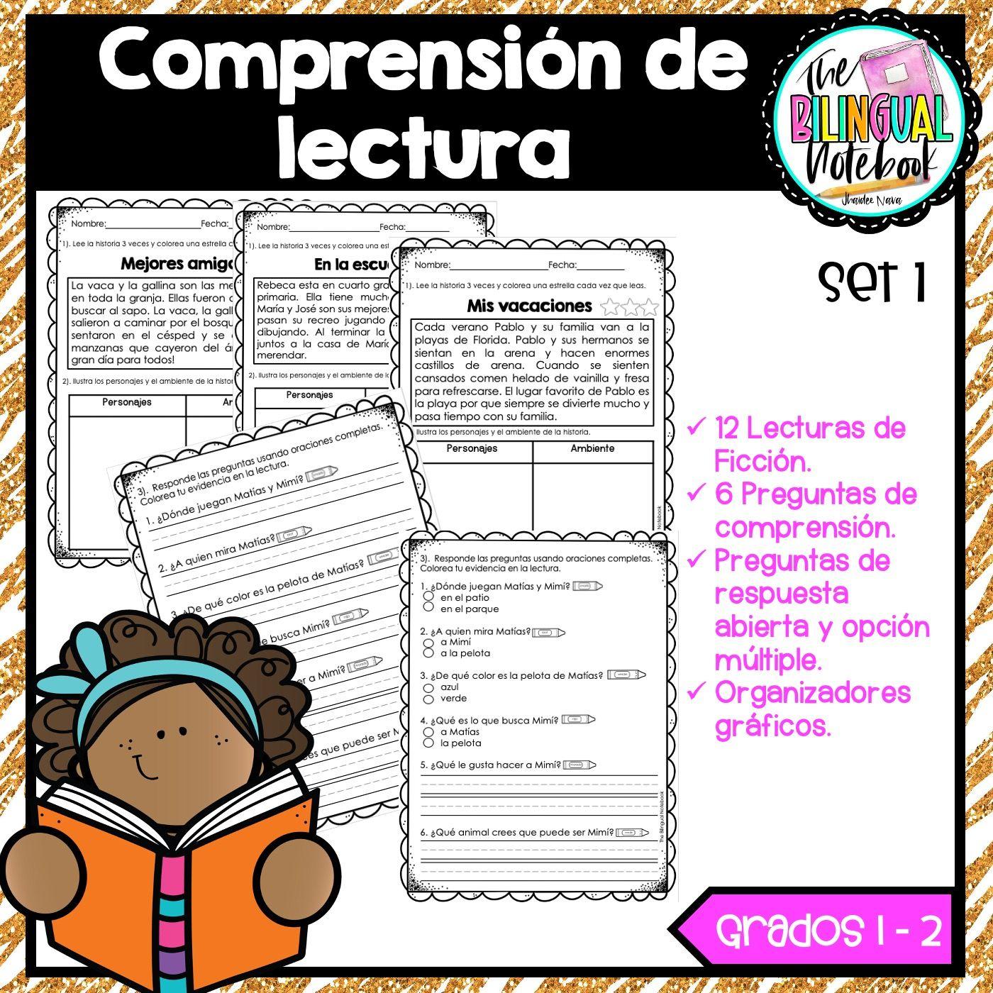 Comprension De Lectura Spanish Reading Comprehension Reading Comprehension Spanish Reading Reading Resources [ 1400 x 1400 Pixel ]