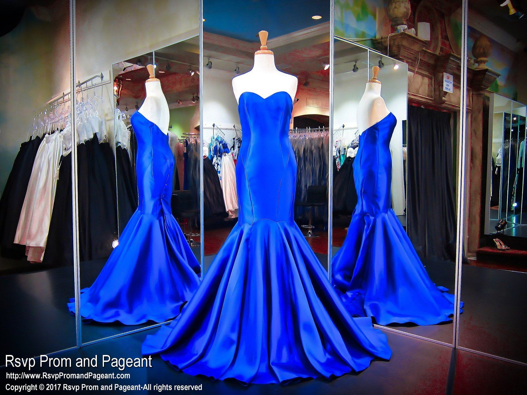 Royal classy satin voluminous mermaid prom dress products