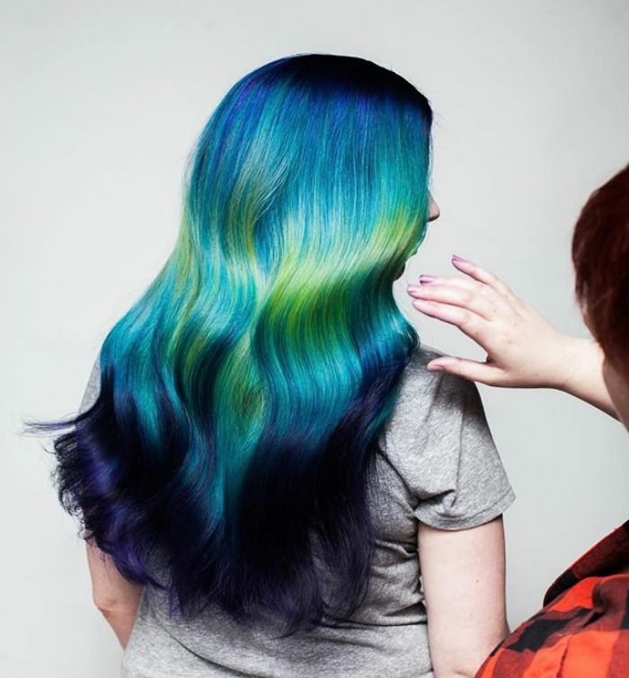 New Hair Trend Mermaid Hair Color Holographic Hair Pastel Blue Hair