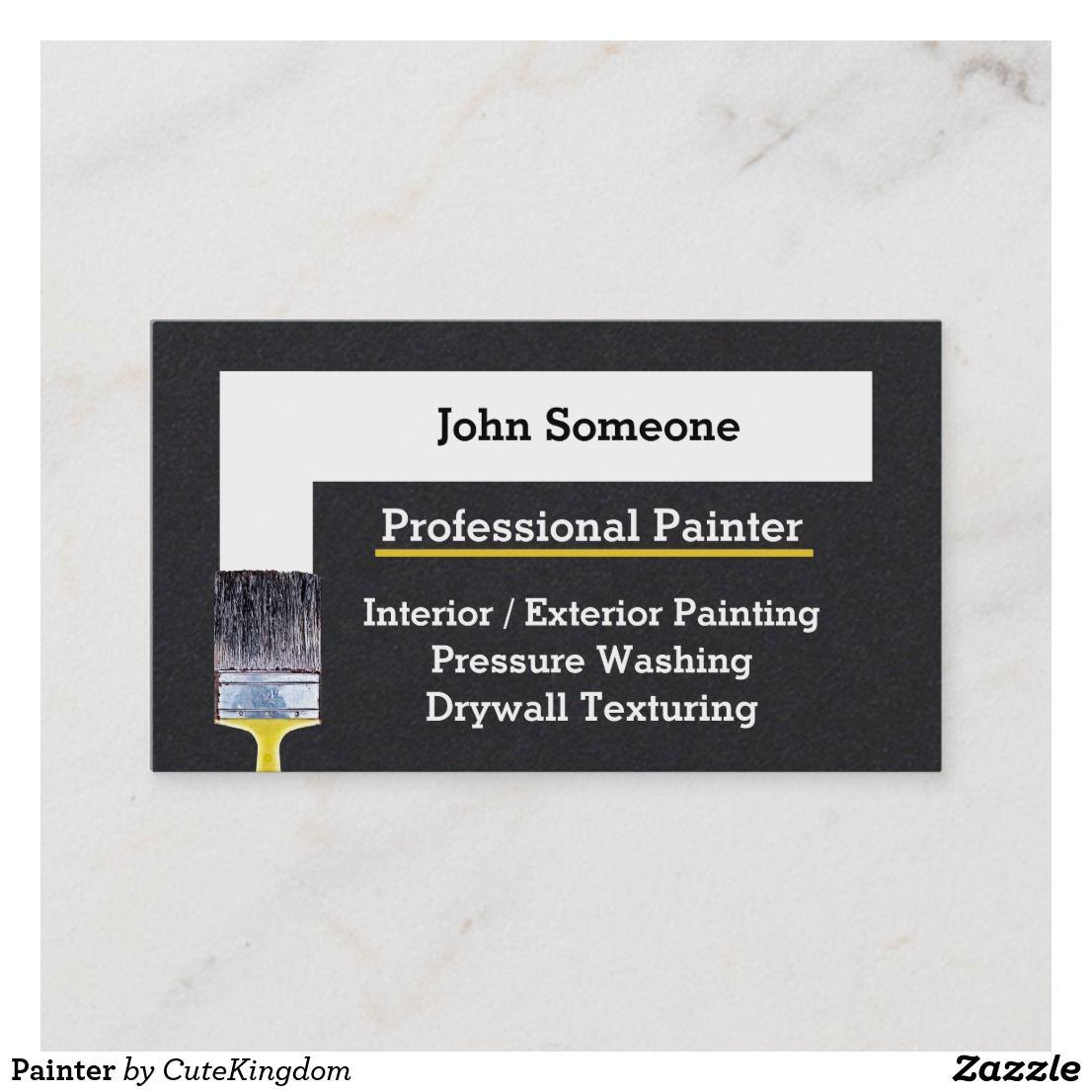 Painter Business Card Zazzle Co Uk Painter Business Card Business Card Logo Business Cards