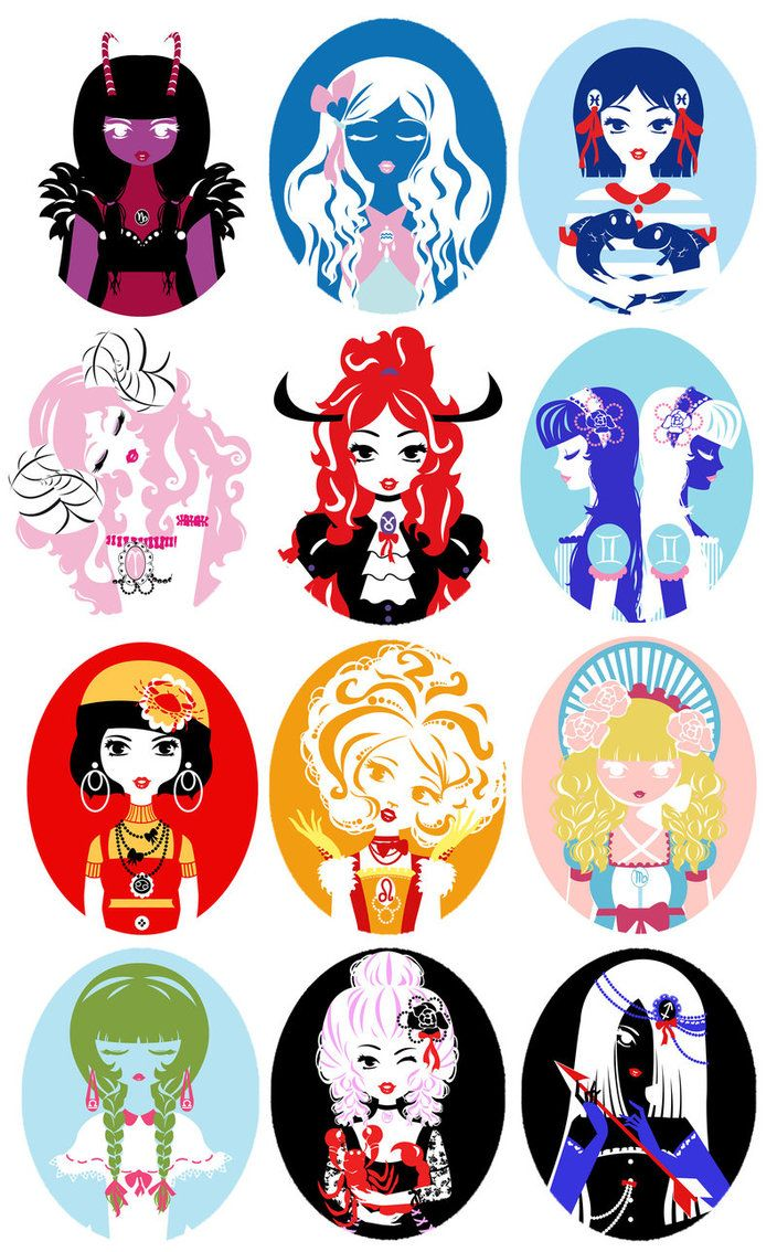 Horoscope Dolls by Silvia Brujas