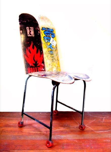 Skateboard Chair Skateboard Furniture Art Chair Chair