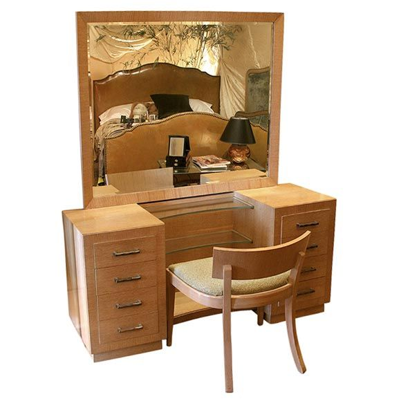 Furniture Dressing Table Brown Woodendressing