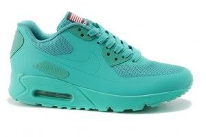 best service db74a 06b4d DameHerre Nike Air Max 90 Hyperfuse QS Independence Day Apple Grønn