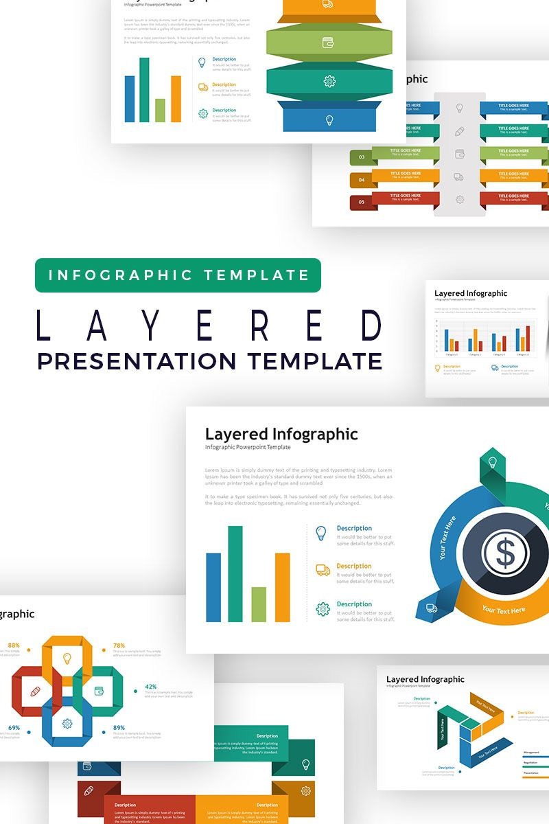 Layered presentation infographic powerpoint template also best design ideas for small spaces images rh pinterest