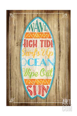 Surfboard Art Print by Jennifer Pugh at Art.co.uk
