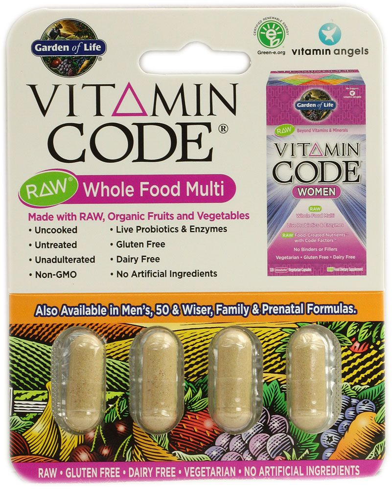 Garden Of Life Vitamin Code Women Raw Whole Food Multi Free